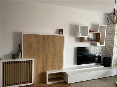 Apartament 3 camere, mobilat modern cu terasa si parcare subterana, zona Buna Ziua