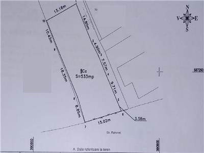 Teren 530 mp cu front de 15 m, Gruia, zona C. A. Rosetti