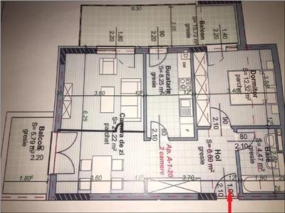 Apartament 2 camere cu terasa in Centru, P-ta Abator